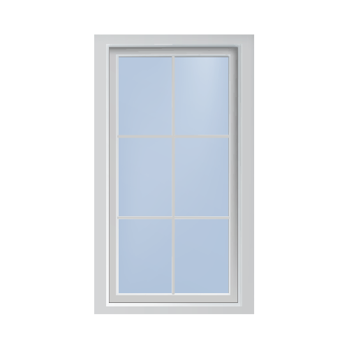 Casement windows silhouette