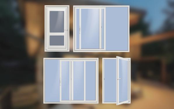 Door styles silhouettes