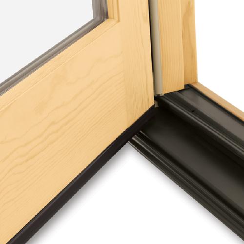 Wood doors silhouette