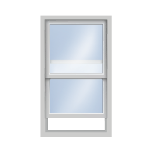 Double hung window silhouette