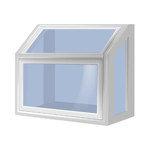 Garden window silhouette