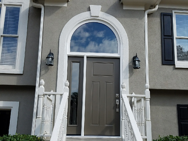 ProVia Signet Entry Door Sunrise Restorations Transom in Woodstock, GA after picture