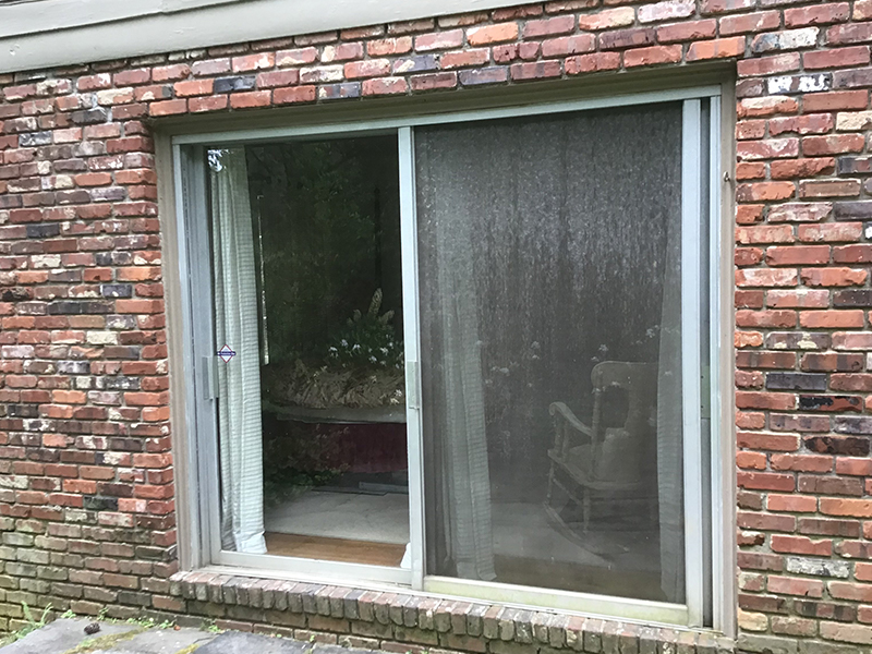 Sunrise Restorations Patio Door in Atlanta, GA before picture