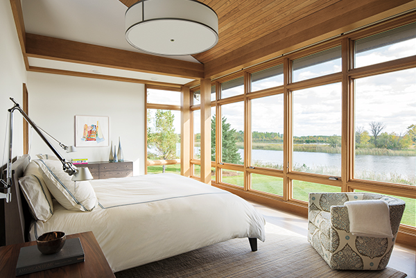 Picture of bedroom with weather resistant windows
