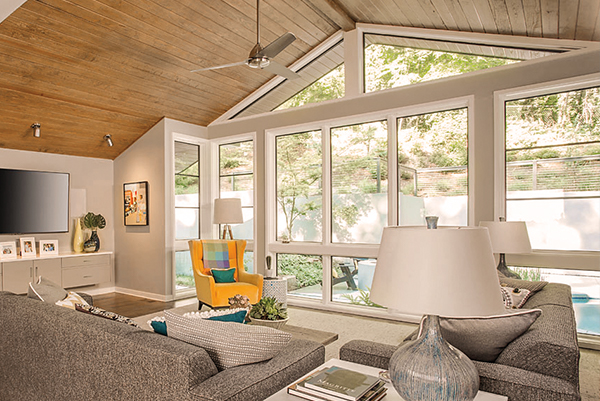 Benefits of replacing your windows with a brightened living room