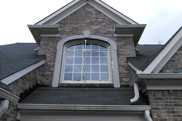 Window installation in Atlanta, GA from outside home
