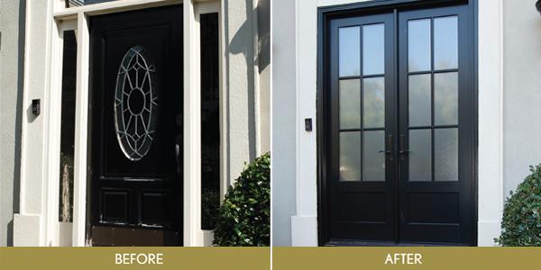 Convert Single Door with Sidelights to Double Door