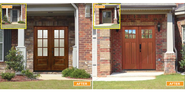 MaxCraft Doors - Before and After