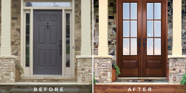 Replace Single Front Door with Double Doors