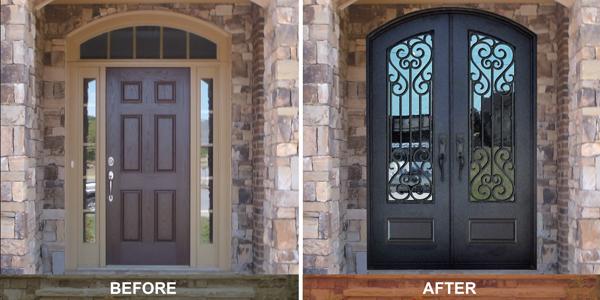 Replacing Front Door with sidelights with Double Door