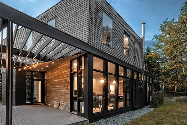 Modern Black Exterior Windows